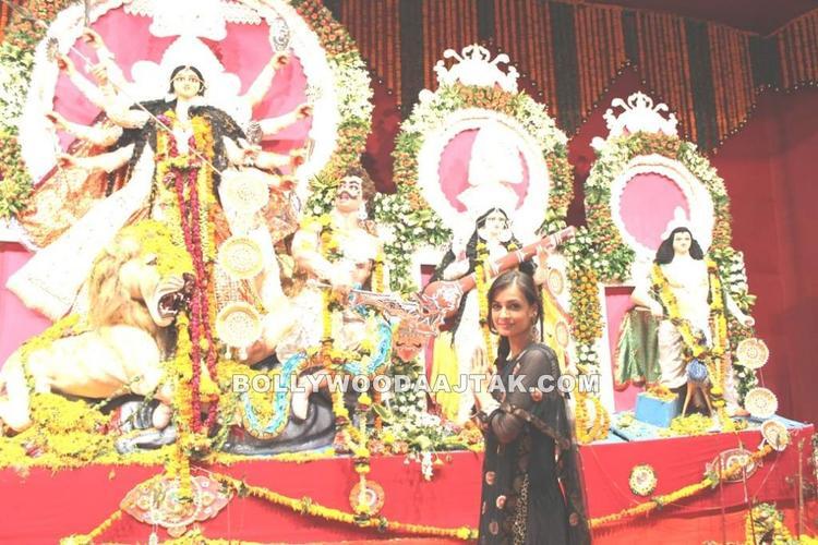 Dia Mirza at North Bombay Sarbojanin Durga Puja