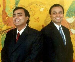 Mukesh and Anil Ambani images