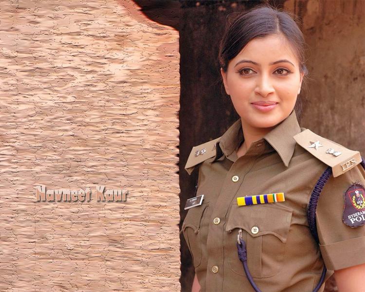 Navneet Kaur with police dress film pic