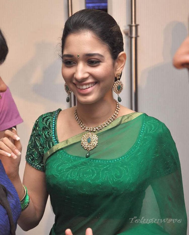 Tamanna badrinath movie audio launch green saree stills