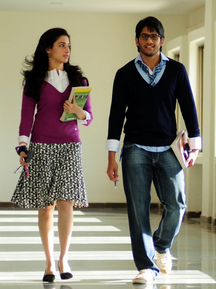 Love telugu movie Naga chaitanya and Tamanna cute stills