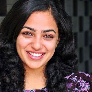 Nithya Menon sweet smile look