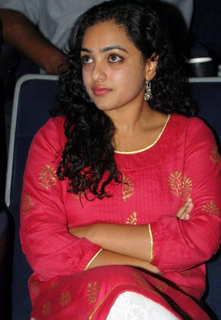 Nithya Menon at  Movie music unveiled event  amazing look
