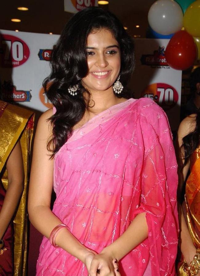 Deeksha Seth in pink color saree