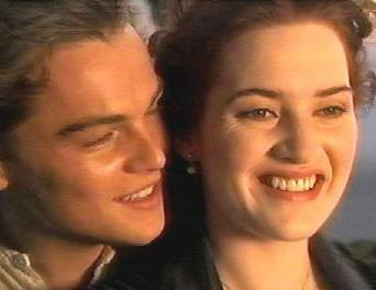 kate winslet  and Leonardo DiCaprio smiling wallpaper