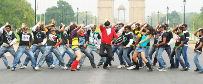 Ravi Teja mirapakaya movie dance stills