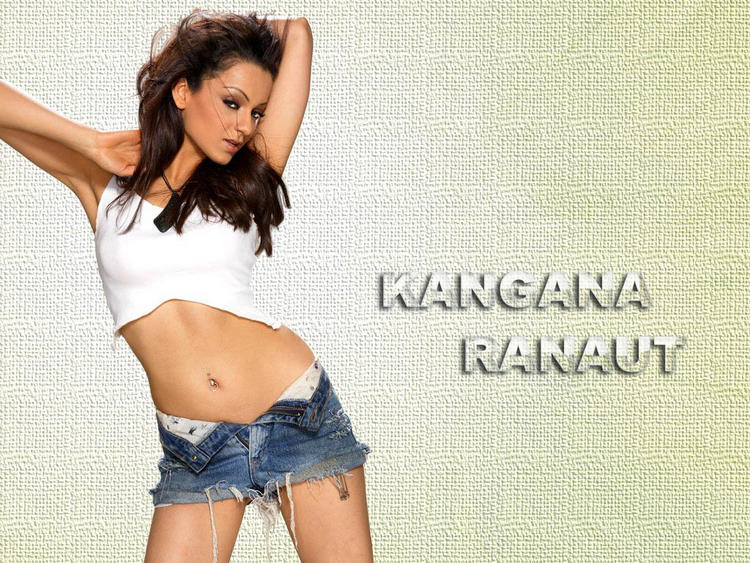 Kangana Ranaut sexy navel wallpaper