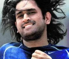 Mahendra Singh Dhoni  hairstyle pic