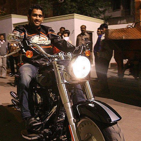 Mahendra Singh Dhoni bike still