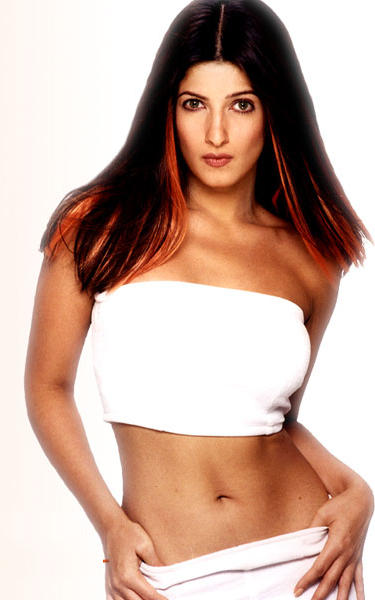 Twinkle Khanna sexy navel show in white dress