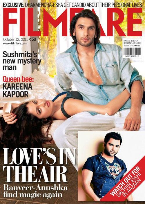 Ranveer Singh and Anushka Sharma  Filmfare wallpaper