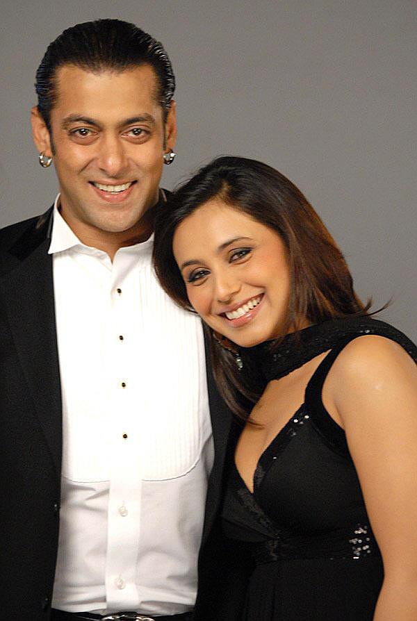 Salman Khan and Rani Mukherjee cute still