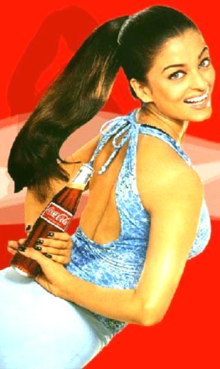 Aishwarya Rai coca cola wallpaper