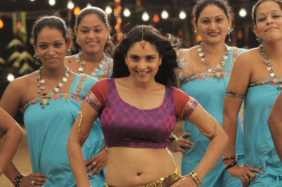 Ramya sexy navel hot dance still