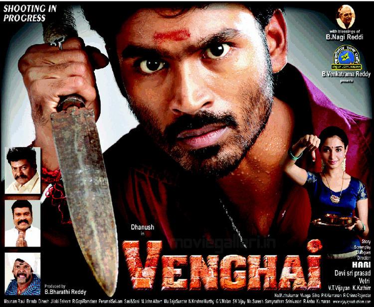 Dhanush Tamanna in Vengai movie wallpaper