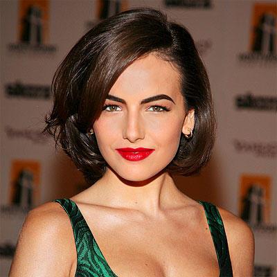 Camilla belle red color lips sexy still