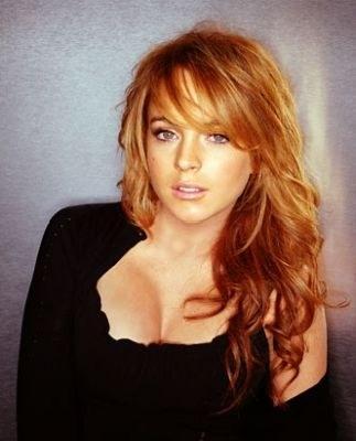 Lindsay Lohan brown hair nice photo