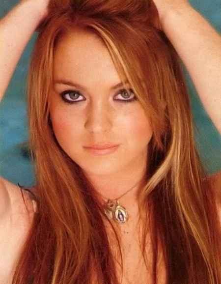 Lindsay Lohan brown hair pics