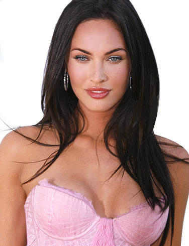 Megan Fox pink color dress open boob show