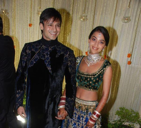 Vivek Oberoi-Priyanka Alva at Wedding Reception