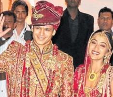 Vivek Oberoi and Priyanka Alva wedding