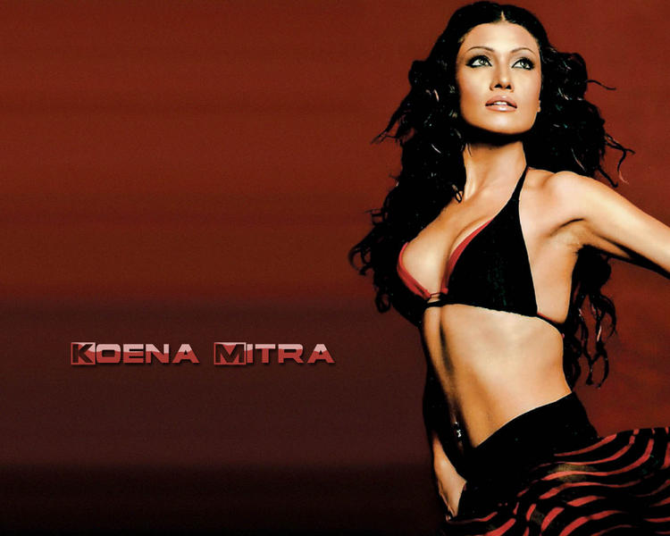 Koena Mitra  hot bikini wallpaper