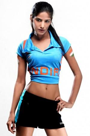 Poonam pandey cricket dress hot wallpapers