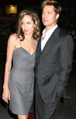 Angelina Jolie and brad pitt party photos