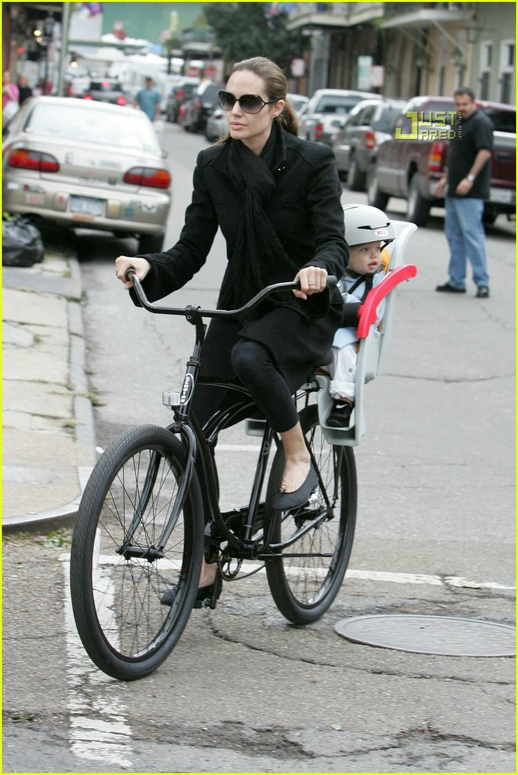 Angelina Jolie bicycle pictures