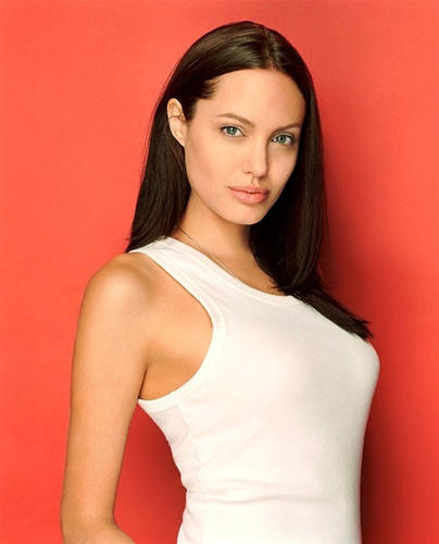 Angelina Jolie white color dress hot wallpaper