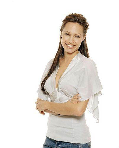 Angelina Jolie white color glamor wallpaper