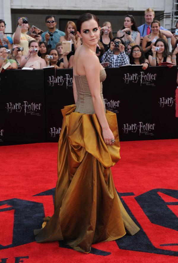 Harry potter  part  newyork emma watson amazing gown still