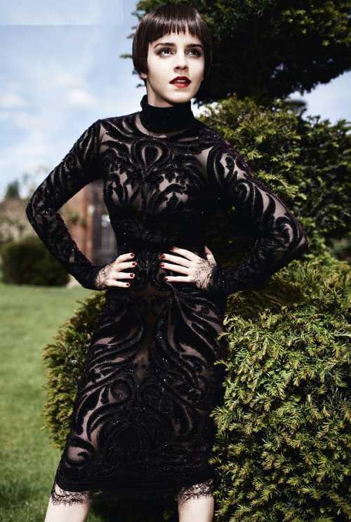 Emma Watson sexy dress photo shoot
