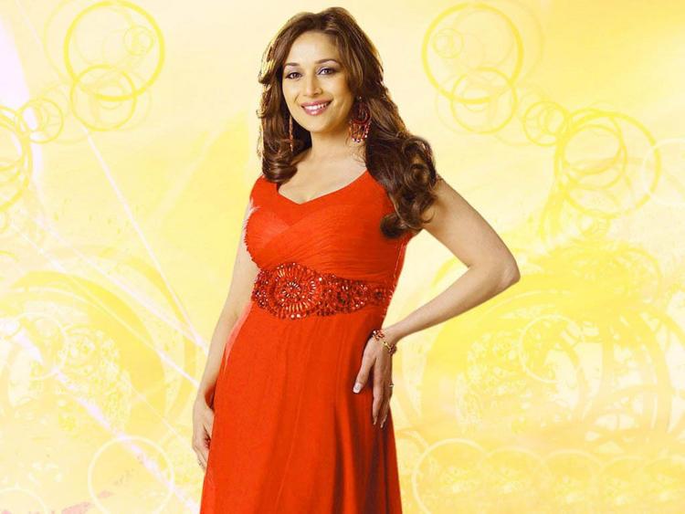 Madhuri Dixit in red dress