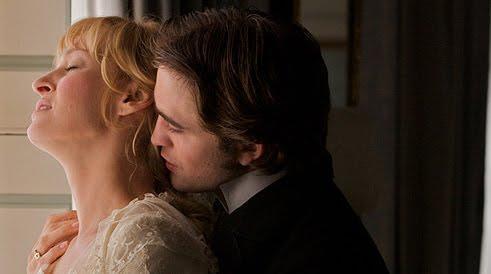 Bel ami movie robert pattinson kiss still