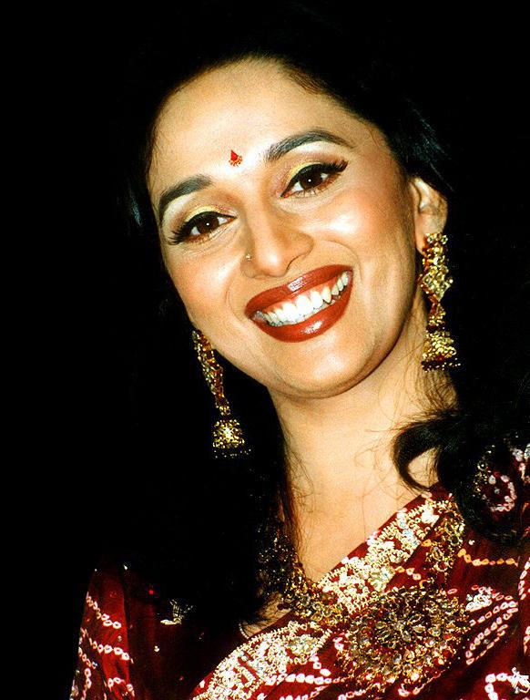Madhuri Dixit closeup smile