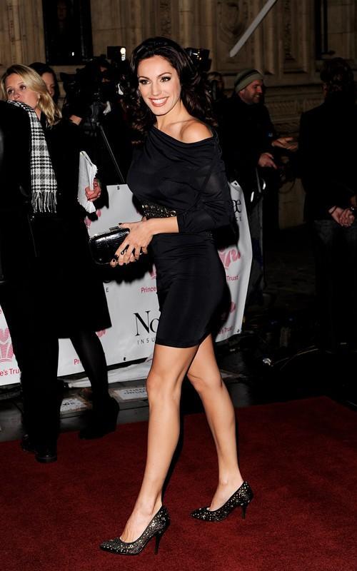 Kelly Brook black color dress still at the Princes Trust Rock Gala