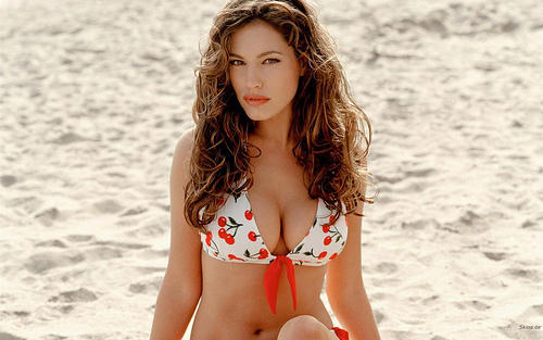 Kelly Brook looking hot gorgeous in bikini dress