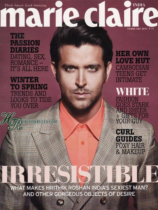 Hrithik Roshan Marie Claire Magazine India Hot Stills
