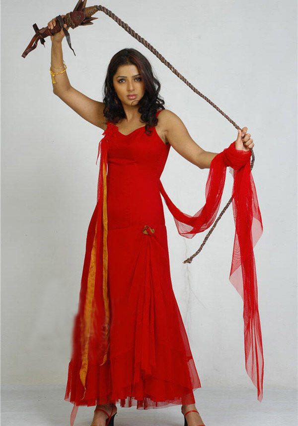 Bhoomika chawla red dress hot pictures