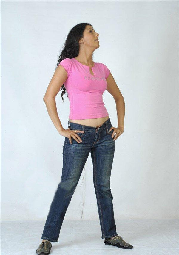 Bhumika with pink tops