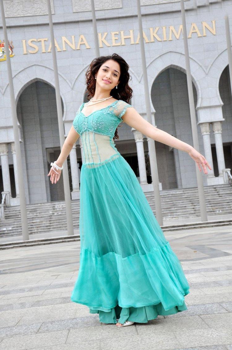 Vengai movie tamanna beautiful gown photos