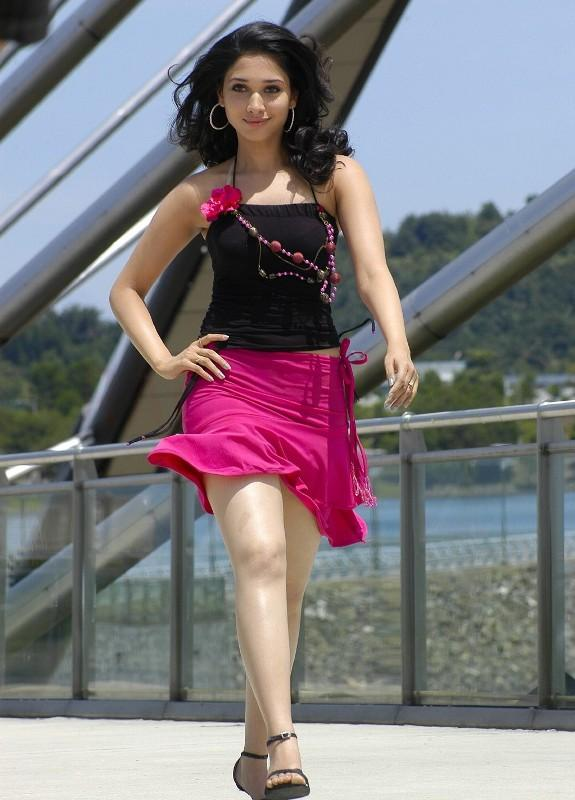 Cute Tamanna Bhatia mini dress awesome still