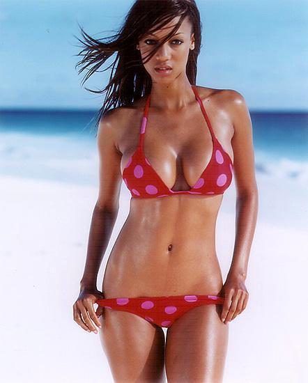 Tyra banks red hot bikini dress still