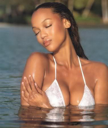 Tyra Banks swimsuit dress sexiest still