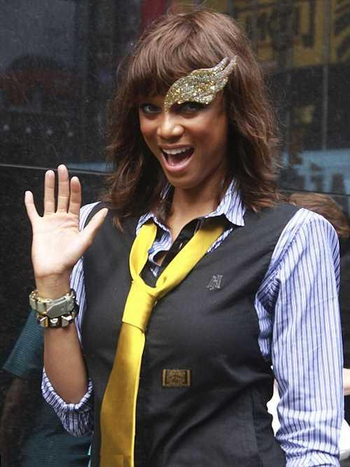 Model Tyra Banks made an appearance on Good Morning America