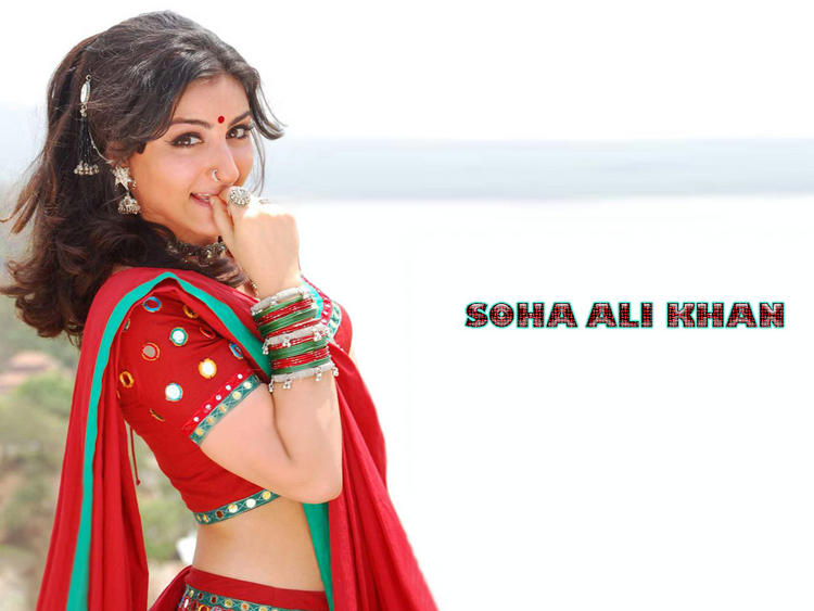 Soha Ali Khan latest cute wallpaper