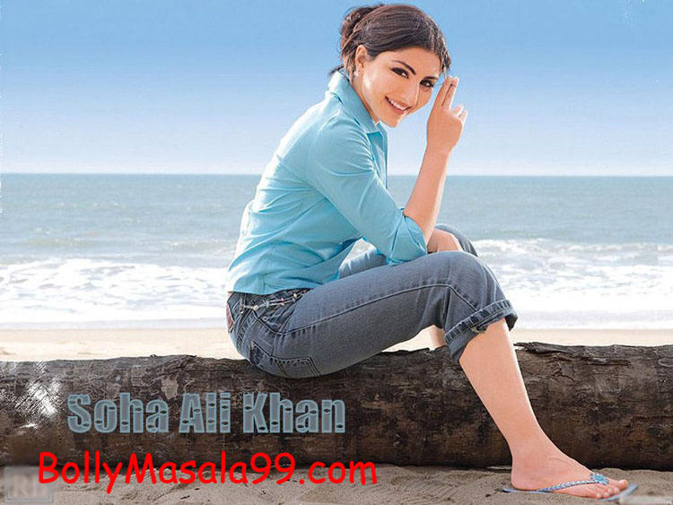 Soha Ali Khan cute hot photo shoot on the beach