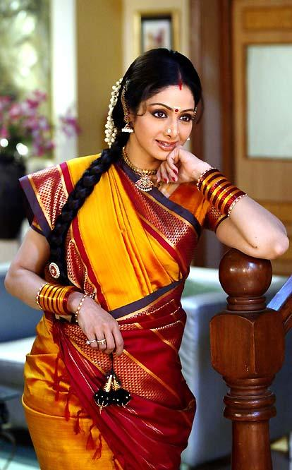Sridevi Kapoor traditional saree pic