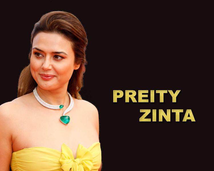 Preity Zinta sweet lips wallpaper